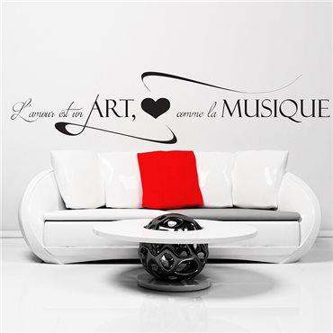 Sticker L'Amour est un ART - stickers citations & stickers muraux - fanastick.com