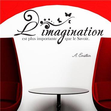 Sticker L'imagination... A. Einstein - stickers citations & stickers muraux - fanastick.com
