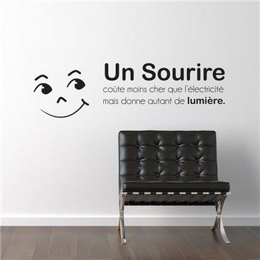 Sticker Un sourire coûte moins cher que... - stickers citations & stickers muraux - fanastick.com