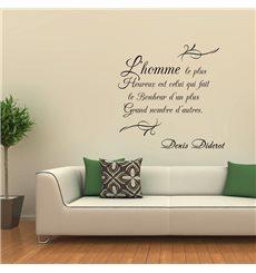 Sticker L'homme le plus heureux... D. Diderot