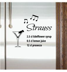 Sticker déco cocktail Strauss