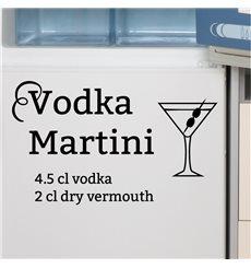 Sticker déco cocktail Vodka Martini
