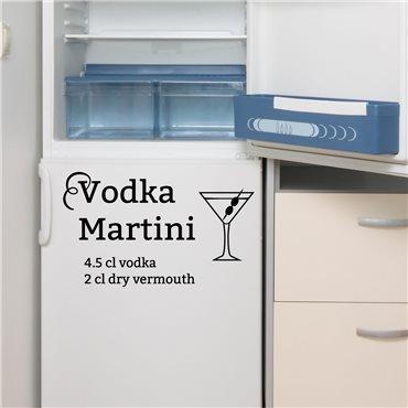 Sticker déco cocktail Vodka Martini - stickers frigo & stickers muraux - fanastick.com