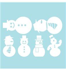 Sticker électrostatiques bonhommes de Noël