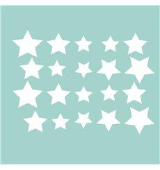 Sticker étoiles Électrostatiques