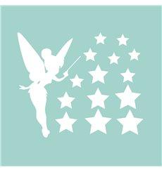 Sticker électrostatiques Étoiles et Fée