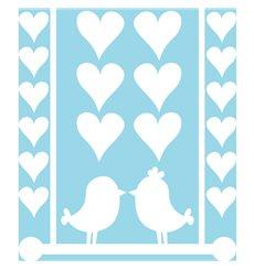 Sticker électrostatiques oiseaux d'amour