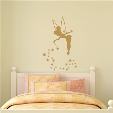 Sticker fée clochette - stickers chambre fille & stickers enfant - fanastick.com