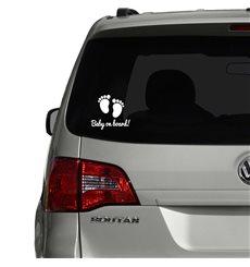 Sticker auto Empreintes de pieds Baby on board
