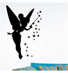 Sticker fée et étoiles