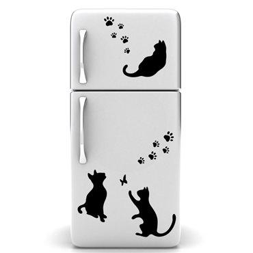 Sticker déco Chats et  empreintes - stickers frigo & stickers muraux - fanastick.com