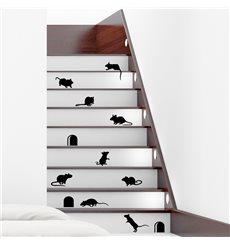 Sticker Escaliers drôles avec souris