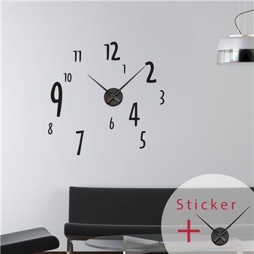 Sticker horloge avec chiffres - stickers horloge & stickers muraux - fanastick.com