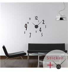 Sticker horloge avec chiffres