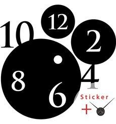 Sticker horloge avec numéros dans les cercles