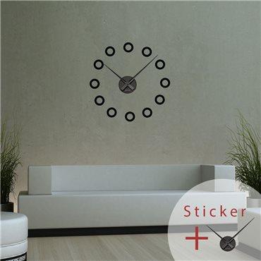 Sticker horloge avec ronds - stickers horloge & stickers muraux - fanastick.com