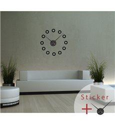 Sticker horloge avec ronds