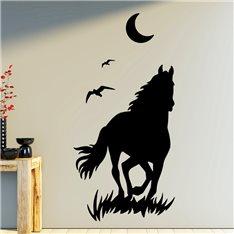 Sticker Cheval et lune