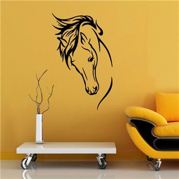 Sticker traits de la  tête d'un cheval - stickers cheval & stickers muraux - fanastick.com