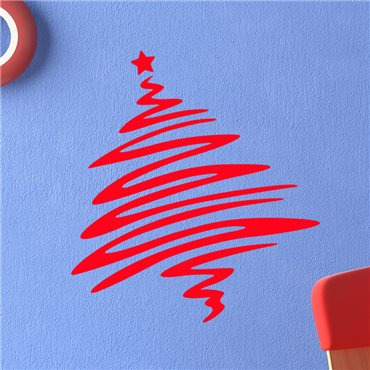 Sticker Arbre de Noël Pop Art - stickers noël & stickers muraux - fanastick.com