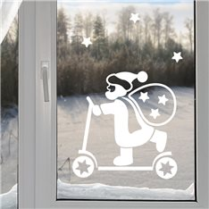 Sticker Père Noël sur scooter