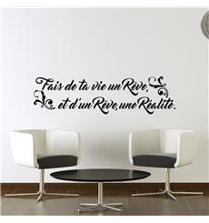 Sticker citation Fais de ta vie un rêve...
