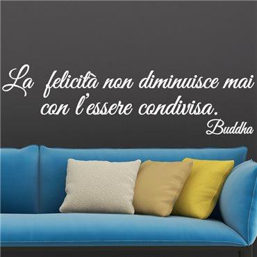 Sticker citation La felicità...Buddha - stickers citations & stickers muraux - fanastick.com