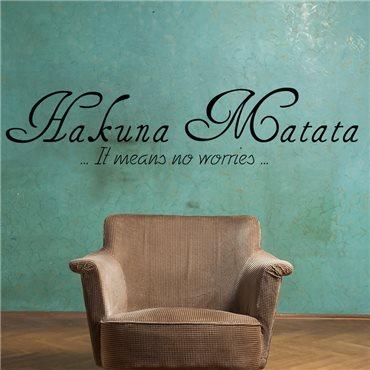 Sticker Hakuna Matata - stickers citations & stickers muraux - fanastick.com