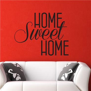 Sticker Home sweet Home - stickers citations & stickers muraux - fanastick.com