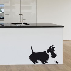 Sticker Scottish terrier grenouille