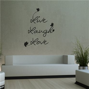 Sticker Live Laugh Love - stickers citations & stickers muraux - fanastick.com