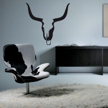 Sticker Skull bull - stickers animaux & stickers muraux - fanastick.com