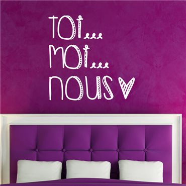 Sticker Toi Moi Nous - stickers amour & stickers muraux - fanastick.com