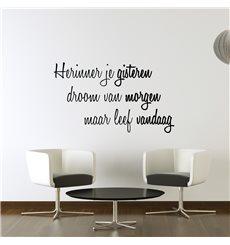 Sticker Leef Vandaag...