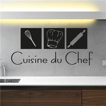 Sticker déco Cuisine du Chef - stickers cuisine & stickers muraux - fanastick.com