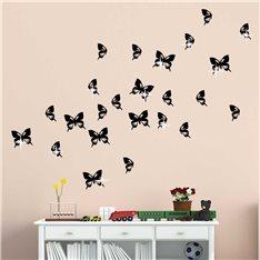 Sticker swarovski papillons & 15 Swarovski crystal 3mm