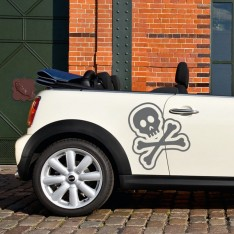 Sticker Tête de mort design