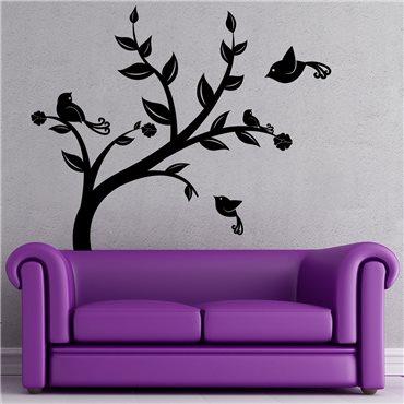 Sticker Oiseaux survolant un arbre - stickers arbre & stickers muraux - fanastick.com