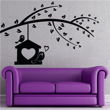 Sticker Chanson d'amour d'un oiseau - stickers arbre & stickers muraux - fanastick.com