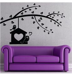 Sticker Chanson d'amour d'un oiseau