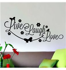 Sticker Design Live, laugh, love