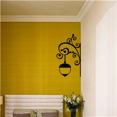 Sticker Design lampe mural baroque