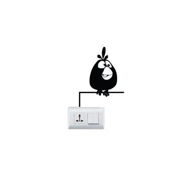 Sticker Caricature oiseau assis - stickers interrupteur & stickers muraux - fanastick.com
