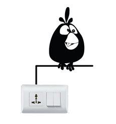 Sticker Caricature oiseau assis