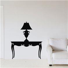 Sticker Design lampe sur une table