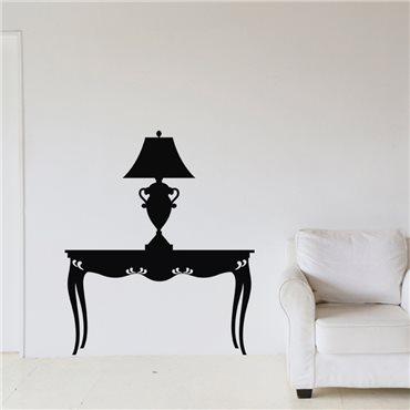 Sticker Design lampe sur une table - stickers salon & stickers muraux - fanastick.com