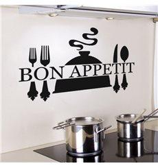 Sticker « Bon appétit » et couverts de table
