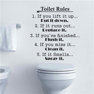 Sticker Toilet Rules - stickers wc & stickers toilette - fanastick.com