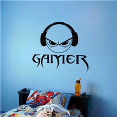 Sticker Smiley Gamer