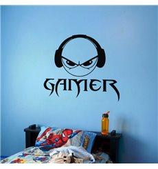 Sticker Smiley Gamer